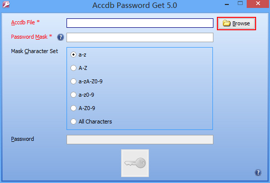 Click to view Accdb Password Get screenshots